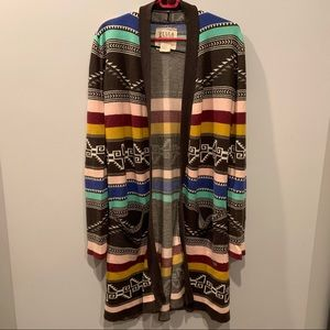 Billabong Colorful Long Cardigan M